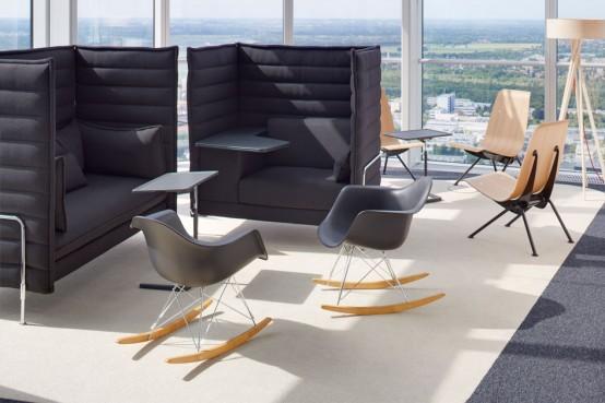 Vitra rar sedia a dondolo eames plastic armchair rocking for Sedia design ebay